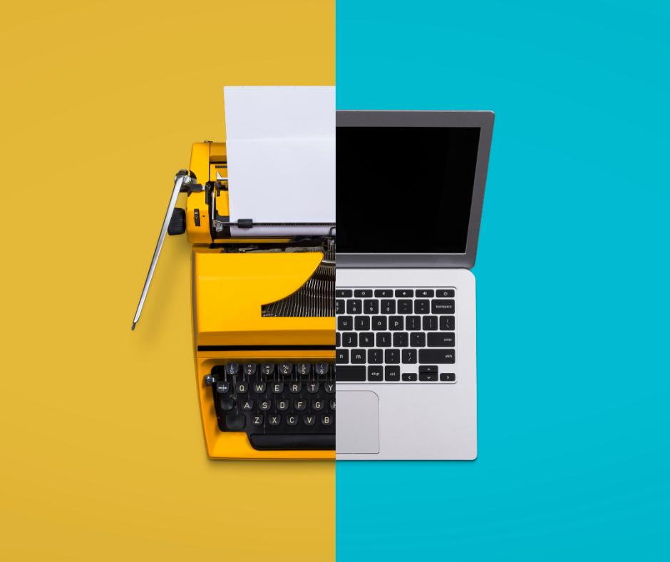 Typewriter vs computer